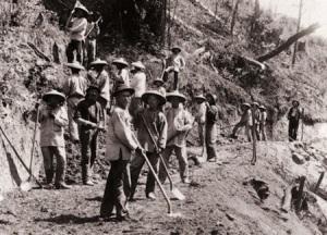 Chinezen aan het werk in de Cubaanse spoorwegen, cubaanse uitdrukkingen, Cubaans Spaans, Cuba, taal cultuur