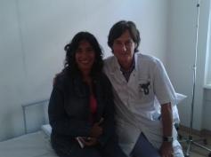 Mijn zus Leonor met behandelend arts Dr. Zijlmans van het Oogziekenhuis Rotterdam.