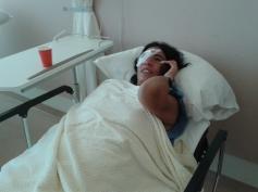 Meteen na de operatie. Oogziekenhuis Rotterdam.
