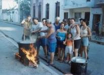 De ajiaco wordt geserveerd